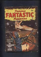Famous Fantastic Mysteries Magazine pulp 10/49 Space Mummy beautiful babe cvr