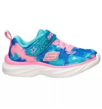 Toddler Girls Kids Skechers Pepsters Shoes Sneakers Size 11 Blue/Pink 80594L