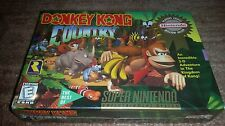 DONKEY KONG COUNTRY 1 PLC SUPER NINTENDO SNES BRAND NEW SEALED!
