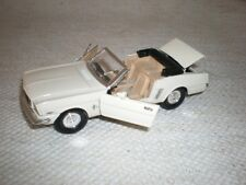 "1965 DIE CAST WHITE MUSTANG ""BABY T-BIRD LOOK""  SS5719 GREAT CONDITION"