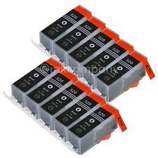 10 CANON Druckerpatronen mit Chip PGI-520 bk black IP 3600 IP 4600 IP 4700 NEU