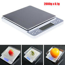LCD MINI 0.1g x 2000g Jewelry Electronic Digital Balance Weight Scale New