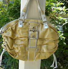 RAFE NEW YORK Women's  Yellow/Silver Glitter  Leather Pleated Handbag