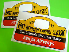 EAST AFRICAN SAFARI CLASSIC Race Rally Car Stickers Decals 2 off 150mm