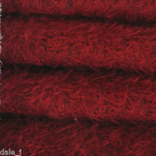 "1/6 yard INTERCAL Crimson 1/2"" Ultra-Sparse Curly Matted Mohair Bear Fabric"