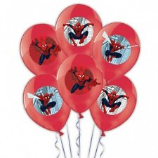 "6 x Superhero Marvel Spiderman Birthday Party Decoration 11"" Latex Balloons"