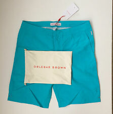 NWT Orlebar Brown Men's Dane Swim Trunks in Teal Size 33