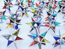 Lot of 25 !!  Stained Glass Moravian STARS Iridescent MULTI COLOR ! Christmas
