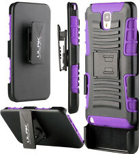Purple 3in1 Protective Hybrid Case w/ Back Kickstand For Samsung Galaxy Note 3