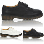 LADIES FLAT CASUAL LACE UP PLATFORM VINTAGE BROGUE WORK WOMENS SHOES SIZE 3-8