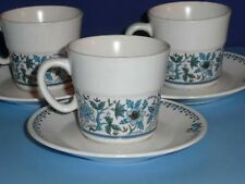 Lot of 3 Noritake China BLUE MOON  Cup Saucer Sets - 3 Sets one Price