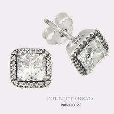 Authentic Pandora Silver Timless Elegance Clear CZ Stud Earrings 290591CZ