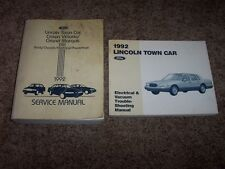 1992 Lincoln Town Car Shop Service Repair Manual Signature Executive Cartier