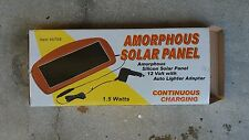 SOLAR PANEL 12 VOLT CAR  BATTERY TRICKLE CHARGER 1.5 WATTS SILICONE CEL
