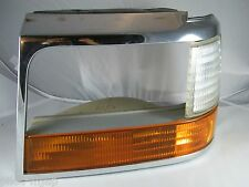 1994 FORD F150 4X4 OEM LEFT DRIVER SIDE HEADLIGHT TRIM WITH CORNER  & TURN LIGHT