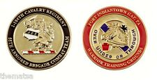 """ARMY FORT INDIANTOWN GAP WARRIOR TRAINING 55TH ARMORED 1.75"""" CHALLENGE COIN"""