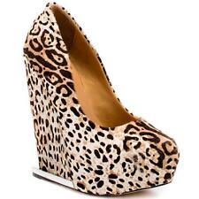 New in Box - $395.00 L.A.M.B. Dorothee Pony Hair Cheetah Platform Wedges Size 6