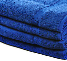 8 x 100% COTTON HAND TOWELS LUXURY 450 GSM JOB LOT - ROYAL BLUE - SALE