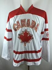 NWOT Mens Northern Vibe Sz Small CANADA Ice Hockey Uniform Jersey White Red
