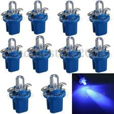 10x T5 Car B8.5D LED Speedo Dashboard Dash Wedge Side Light Bulb Lamp Blue 12V