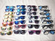 Wholesale Lot 29 Wayfarer Sunglasses Two Tones Colorful  Black Frame Clear Lens