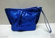 MRE * Authentic Maybelline Blue Glittering Dinner Pouch