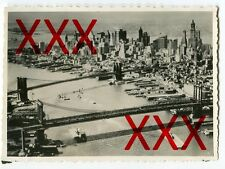 New York City-ORIG. foto, kreuzer Karlsruhe, 1932, vintage Aerial view photo