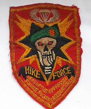 original Vietnam American war  mike force  green beret  cloth patch