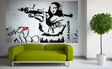 8ft x 5ft GRAFFITI PAINTING  BANKSY MONA LISA STREET ART large  contemporary