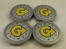 Genius Wheels Silver Custom Wheel Center Cap Caps Set of 4 # PCH61 NEW!