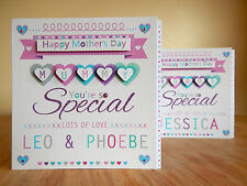 Mother's day Special Mummy card personalised. Special Mothers Day MUMMY card
