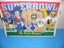 NFL- SUPER BOWL XXXI 31 - COACHES AND QUARTERBACK CARRICATURE POSTER 101/2 X`16