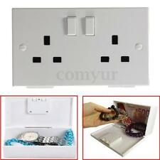 Socket Box Electric Safe UK plug Money Jewelry Storage Hide Hidden Wall Security
