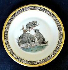 Lenox Woodland Wildlife Boehm Raccoons 1973 Decorative Cabinet Plate