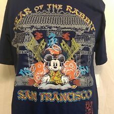 NWT Mickey Mouse San Francisco Chinatown Year of the Rabbit Size Medium Disney