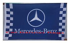 Blue Mercedes Benz Flag Mercedes Benz Racing car banner flags 3X5 Ft