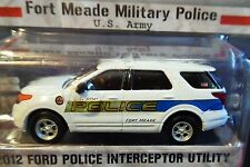 GREENLIGHT 12 2012 FORD POLICE INTERCEPTOR FORT MEADE MILITARY ARMY HOT PURSUIT
