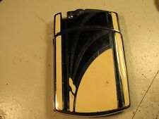 Vintage 1930s Art Deco RONSON TUXEDO Enameled Cigarette Case & Lighter-New Flint