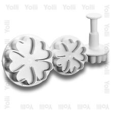 Heart Flowers Fondant Cutter Plunger Set