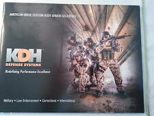 KDH Defense Systems Body Armor Product Catalog / 2013