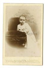 19th Century Children - 1800s Cabinet Card - A.W. Perkins of Claremont, NH