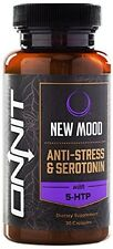 New Mood Anti-Stress & Serotonin Supplement with 5 HTP By Onnit, 30 Capsules New