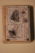 Stampin' Up Measure Of A Life Stamp Set Mounted 2006 Butterfly Bee Flowers