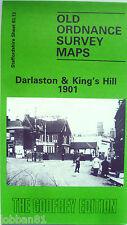 Old Ordnance Survey Map Darlaston & King's Hill near Bilston 1901 S 63.13  new