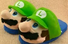 SUPER MARIO BROS. CIABATTE PANTOFOLE LUIGI Slippers Shoes Peluche Plush Boo Wii