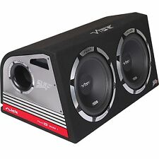 "Vibe Slick Twin 12"" Active Subwoofers Subs and Box 2400w Built in AMP"