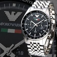 IMPORTED Emporio Armani AR5983 Metal Strap Black Dial Men's Chronograph Watch
