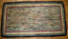 Antique American Hook Rug Late 19th Century