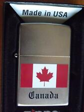 ZIPPO LIGHTER CANADA FLAG CANADIAN SOUVENIR NEW IN GIFT BOX MAPLE LEAF RED WHITE
