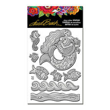 Stampendous Cling MERMAID FISH  stamp set with stencil. LAUREL BURCH sea summer